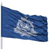 Charleston City Flag sur le mât de drapeau, Etats-Unis Images stock