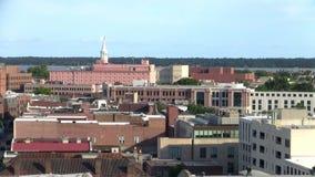 Charleston Cityscape avec le saint Michaels Episcopal Church banque de vidéos