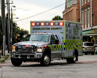 Charleston County EMS in action. Stock Image