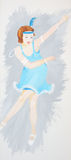 Charleston dancer. royalty free stock photo