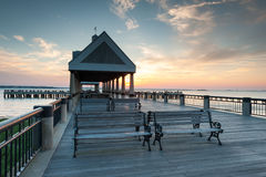 Charleston Downtown Waterfront Pier Stock Photos