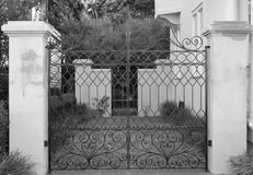 Charleston Gate. One of the many gates found at the Battery in downtown Charleston, South Carolina Stock Image