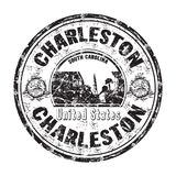 Charleston grunge rubber stamp Stock Photography