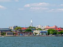 Charleston Harbor. Looking at Charleston SC from the harbor royalty free stock photography