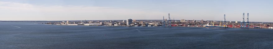 Charleston harbor panorama Royalty Free Stock Photos
