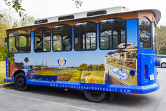 Charleston Harbor Resort et Marina Guest Trolley Photos stock