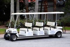 Charleston Harbor Resort et Marina Stretch Golf Cart Photographie stock