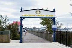 Charleston Harbor Resort & marina Royaltyfri Bild
