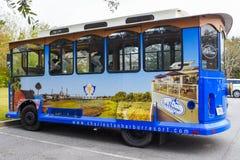 Charleston Harbor Resort & Marina Guest Trolley Arkivfoton