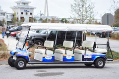 Charleston Harbor Resort & Marina Stretch Golf Cart Arkivbild