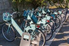Charleston Holy Spokes Bike Share-Station stockfoto