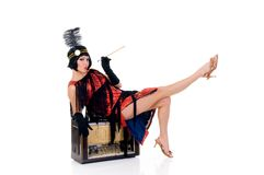 charleston klänningkvinna royaltyfri fotografi