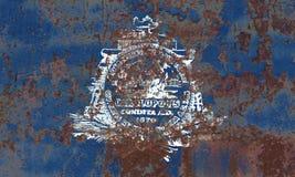 Charleston miasta dymu flaga, Południowa Karolina stan, Stany Zjednoczone Obraz Royalty Free