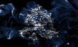 Charleston miasta dymu flaga, Południowa Karolina stan, Stany Zjednoczone Obraz Stock