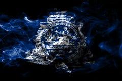 Charleston miasta dymu flaga, Południowa Karolina stan, Stany Zjednoczone royalty ilustracja