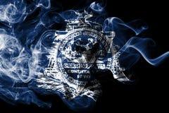 Charleston miasta dymu flaga, Południowa Karolina stan, Stany Zjednoczone Ameryka royalty ilustracja