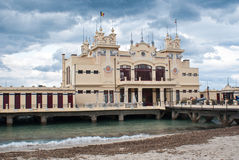 Charleston of Mondello on the beach Stock Photography