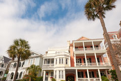 Charleston, NC. Historic houses along Battery st in Charleston, SC stock photography