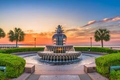 Charleston, Południowa Karolina, usa fontanna zdjęcie stock