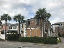 Charleston Prepares pour un ouragan Image stock