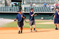 Charleston RiverDogs grounds crew. Stock Photography