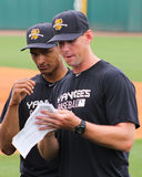 Charleston RiverDogs Pitching Coach Tim Norton. Stock Images