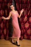 Charleston 1920s dancer Stock Images