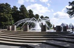 Charleston Sc, am 7. August: Brunnen im Ufergegend-Park von Charleston in South Carolina lizenzfreies stockfoto