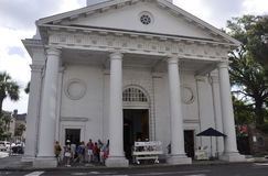 Charleston Sc, am 7. August: Kirchen-St. Michaels von Charleston in South Carolina lizenzfreies stockfoto