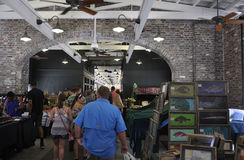 Charleston SC,August 7th:City Market interior from Charleston in South Carolina Royalty Free Stock Images