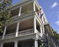 Charleston SC,August 7th:Historic Colonial House from Charleston in South Carolina Stock Photography