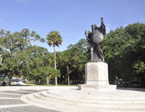 Charleston SC,August 7th:Monument of Confederate Defenders of Charleston from Charleston in South Carolina Royalty Free Stock Photography