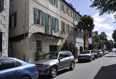 Charleston SC,August 7th:Street view from Charleston in South Carolina Royalty Free Stock Photo