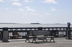 Charleston SC,August 7th:Waterfront Pontoon from Charleston in South Carolina Royalty Free Stock Photography