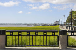 Charleston SC,August 7th:Yachting Harbor from Charleston in South Carolina Royalty Free Stock Photo