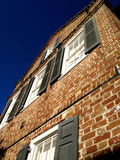 Charleston SC brick house perspective Royalty Free Stock Image