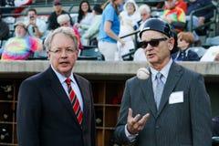 Charleston, SC Mayor Tecklenburg and Actor Bill Murray. Royalty Free Stock Photography