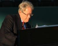 Charleston, SC Mayor Tecklenburg playing piano. Stock Images