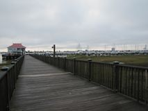 Charleston,SC pier and harbor royalty free stock image