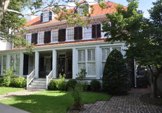 Charleston SC, Sierpień 7th: Historyczny dom od Charleston w Południowa Karolina Obraz Stock