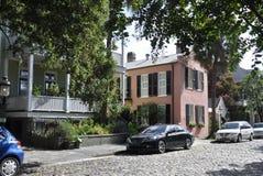 Charleston SC, Sierpień 7th: Ulica niewolnika handel od Charleston w Południowa Karolina Fotografia Stock