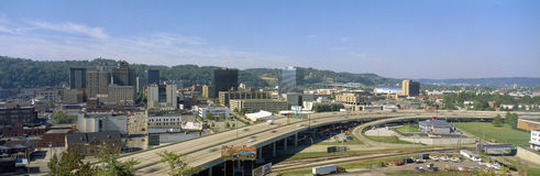 Charleston Skyline. In West Virginia Royalty Free Stock Photo