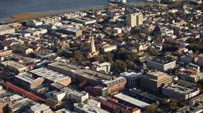 Charleston south carolina. Aerial view of charleston south carolina Stock Images
