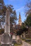 Charleston South Carolina Historic Haunted-Begraafplaats Royalty-vrije Stock Fotografie