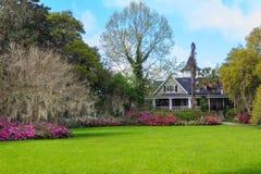 Charleston South Carolina Magnolia Plantation House Stock Photo