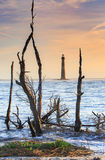 Charleston South Carolina Morris Island-Vuurtoren royalty-vrije stock foto