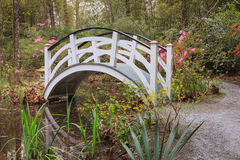 Charleston South Carolina Ornamental White Garden Bridge Stock Image