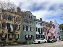 Charleston South Carolina rainbow row stock images