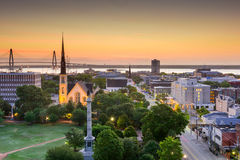 Charleston South Carolina Skyline immagini stock
