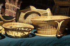 Charleston South Carolina Sweetgrass baskets Stock Images